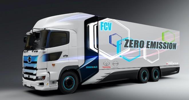 Toyota ve Hino'dan 600 kilometre menzile sahip hidrojenli kamyon
