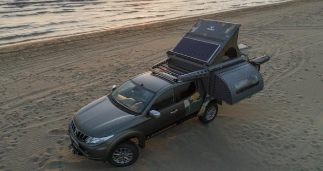 Mitsubishi L200 Crawler taşınabilir bir yaşam alanı sunuyor