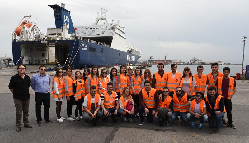 Haliç Üniversitesi lojistik öğrencileri UN Ro-Ro'yu ziyaret etti