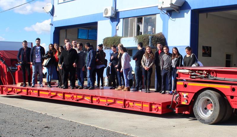 Kadir Has Üniversitesi Lojistik Kulübü, Yalçın Dorse'nin üretim sürecini yakından gördü