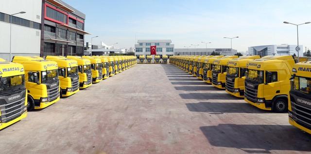 100 adet Yeni Nesil Scania aldı, 640 adet Scania'dan oluşan dev filoya ulaştı