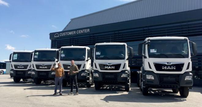 Fernas Şirketler Grubu'na 5 adet MAN TGS 41.420 otomatik vites kamyon teslim edildi