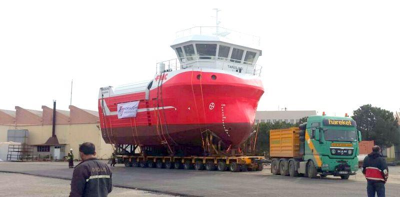 130 tonluk okyanus tarama gemisini taşıdı