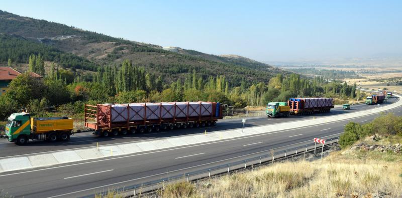 1387 tonluk yükü 600 kilometre taşıdı