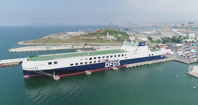 450 TIR kapasiteli DFDS'nin en yeni gemisi hizmete başladı