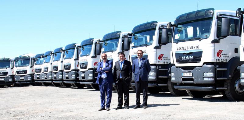 150 araçlık filosuna 38 adet kamyon daha kattı