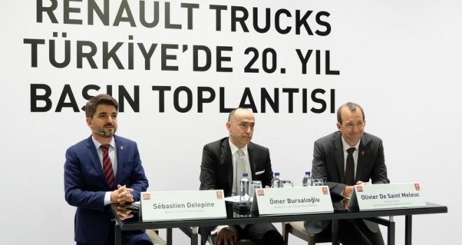 Türkiye'de 20. yılını kutlayan Renault Trucks, yüzde 10 pazar payı hedefliyor