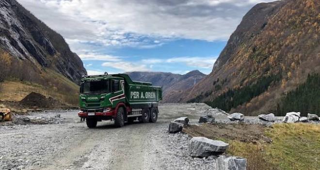 Allison şanzımanlı Scania'lar Norveç'teki damperli kamyonların yerini alıyor