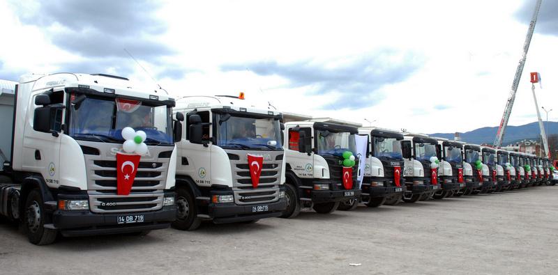 17 adet Scania aldı