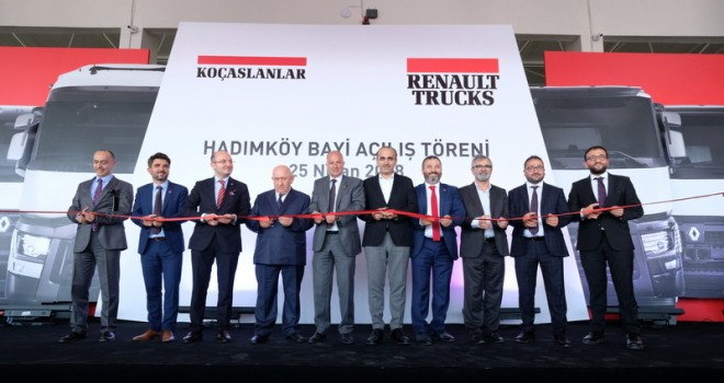 Koçaslanlar Hadımköy Şubesi'ni Renault Trucks Dünya Başkanı ile açtı