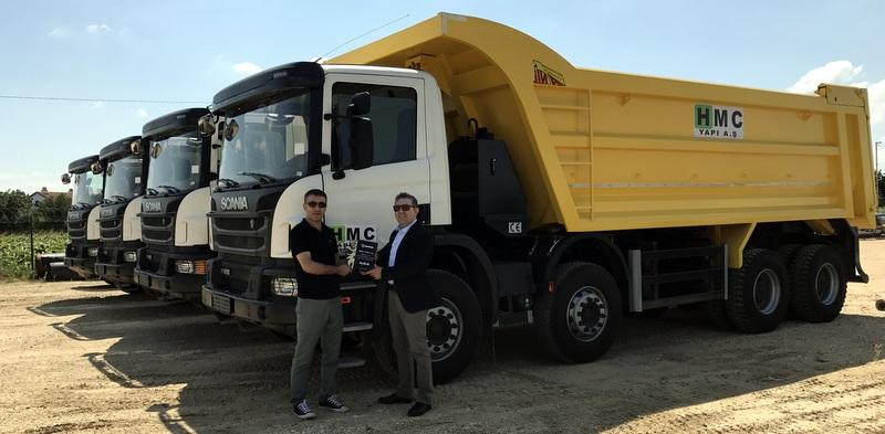 19 projede kullanmak için filosunu Scania kamyonlarla güçlendirdi
