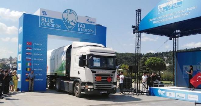 Scania, Mavi Koridor Rallisi'ne CNG'li Modeli ile katıldı