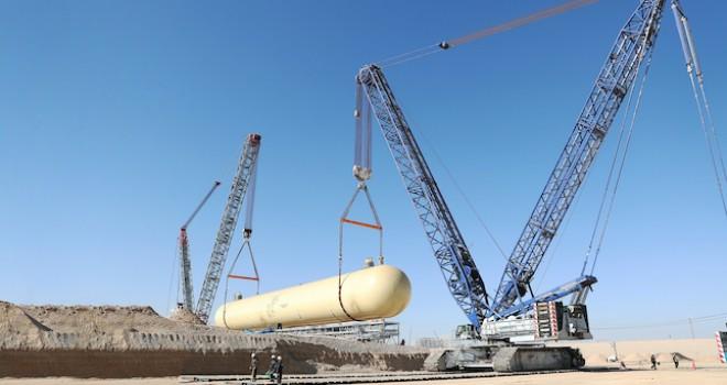 Her biri yaklaşık 900 tonluk 9 adet LPG depolama tankının operasyonlarını tamamladı