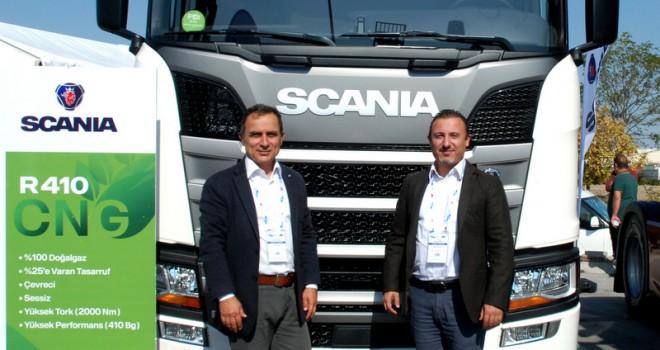 Scania, Ankaralı lojistikçilere CNG'li çekicisini tanıttı