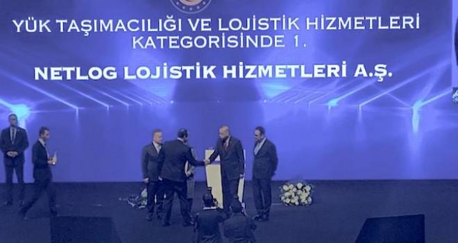 Netlog Lojistik'e hizmet ihracatı ödülü