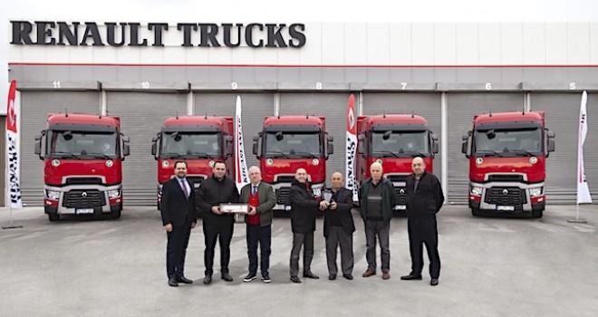 T 480 çekiciler ile filosunu güçlendirdi, Renault Trucks araç sayısını 55'e yükseltti