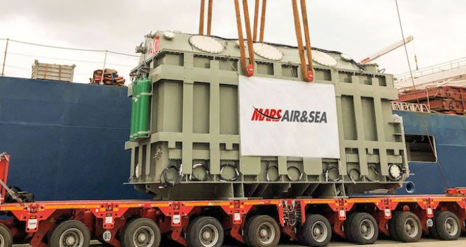Mars Logistics, 154 tonluk dev trafoyu Avrupa'ya ulaştırdı