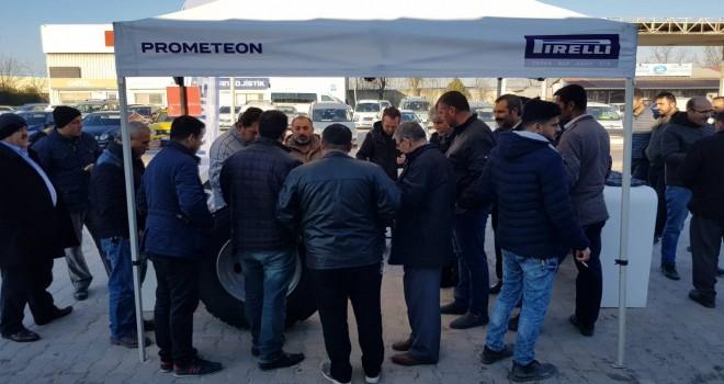 Prometeon, Marmara Nakliyeciler Terminali'nde ağır ticari araç sürücüleri buluştu
