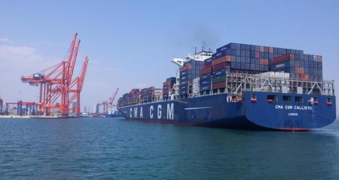 9 ayda 1 milyon 236 bin TEU konteyner elleçleyerek Türkiye'nin en büyük konteyner limanı oldu