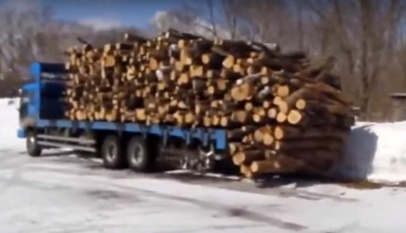 Kamyon şoföründen istifleme dersi! (VİDEO HABER)