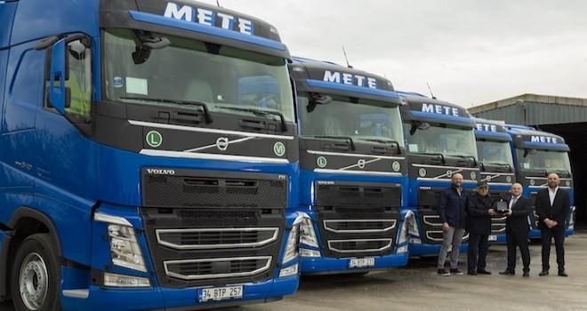 Mete Transport filosuna 5 adet özel tasarlanmış Volvo FH13 540 HP çekici kattı