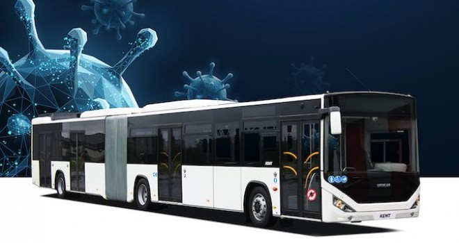 Otokar'ın Covid-19'un bulaş riskini azaltan  'Güvenli Otobüs'ü İzmir'de