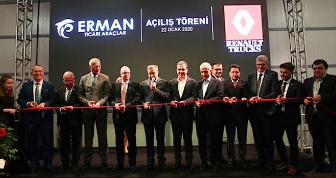 Renault Trucks Mersin satış ve yetkili bayi Erman Ticari Araçlar'ın tesisi açıldı