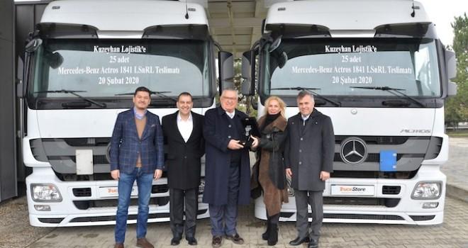 TruckStore, Kuzeyhan Lojistik'e 25 adet Actros teslim etti