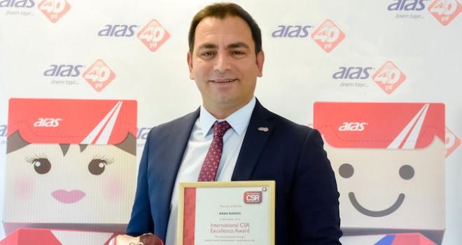 Aras Kargo'ya Çevre Kirliliğini Önleme ödülü