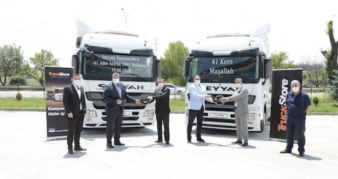 Seyyah Taşımacılık, TruckStore'dan 41 adet Actros aldı