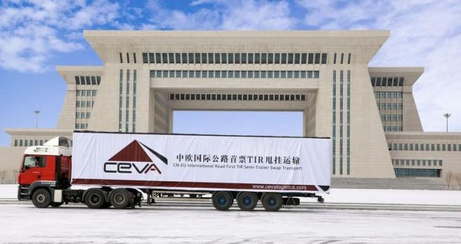Ceva'nın Çin'den Avrupa'ya gidecek ilk kamyonu yola çıkardı