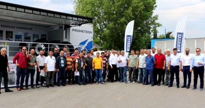 Prometeon TIR'ı 30 ilde 44 farklı kamyon kooperatifini ziyaret edecek
