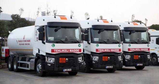 841 araçtan oluşan dev filosunu 65 adet Renault Trucks çekici ve kamyon ile güçlendirdi