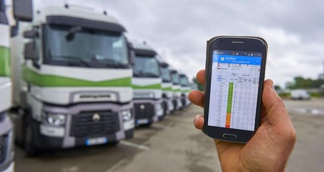 Renault Trucks'ın filo yönetim çözümü Optifleet'in mobil versiyonu tanıtıldı