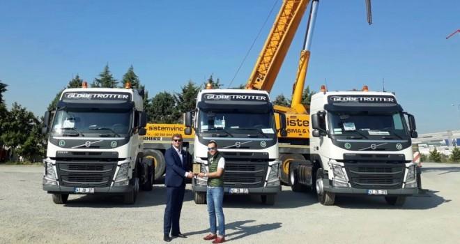 Sistem Vinç'e 7 adet özel tasarlanmış Volvo Trucks