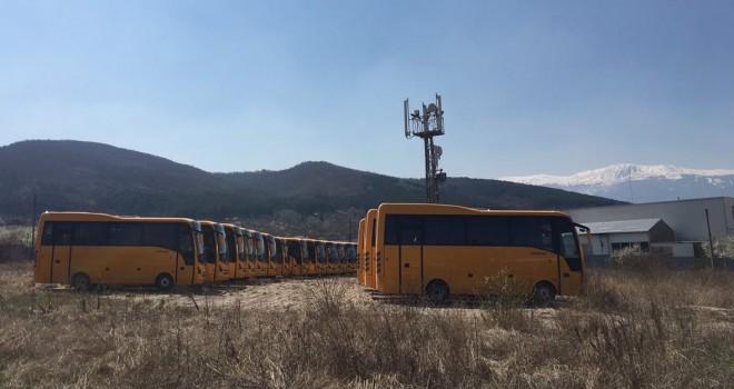 Bulgaristan Eğitim Bakanlığı'na27 adet Isuzu Novo otobüs
