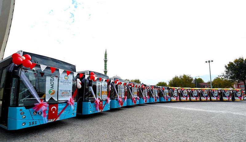 Temsa, Malatya'ya 14 otobüs teslim etti