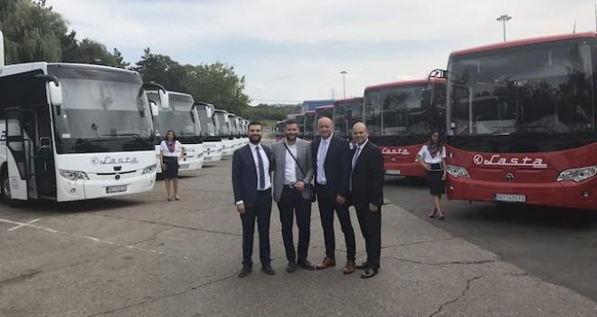 TEMSA'dan Sırbistan'a 30 adet otobüs teslimatı