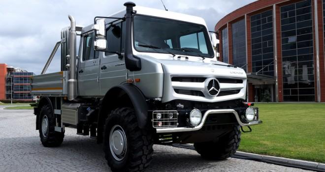 Mercedes-Benz Unimog şehir içinde kullanıma uygun donanımla satış sunuldu