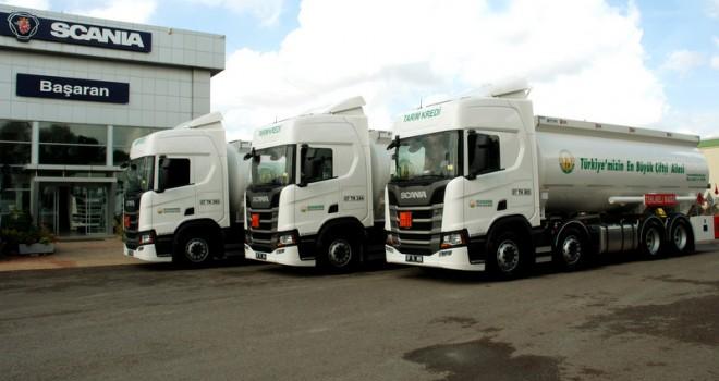 Scania'dan Antalyalı çiftçilere 3 adet Scania R 450