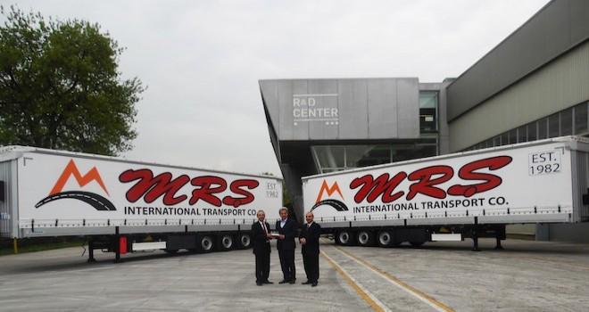 MRŞ Uluslararası Nakliyat filosuna 20 adet Tırsan treyler kattı