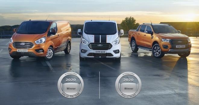 Ford Transit Custom ve Ranger'a ödül