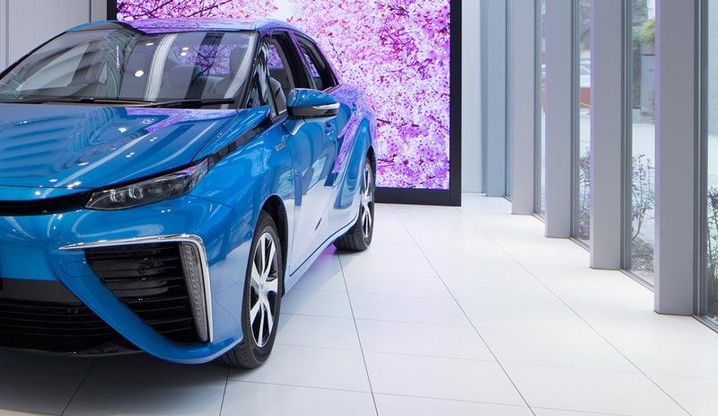 Çevreye hiç zarar vermeyen otomobile özel showroom