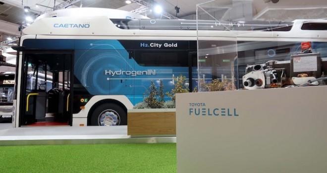Toyota'nın hidrojen yakıtlı otobüsü 2020'de Avrupa yıllarında olacak