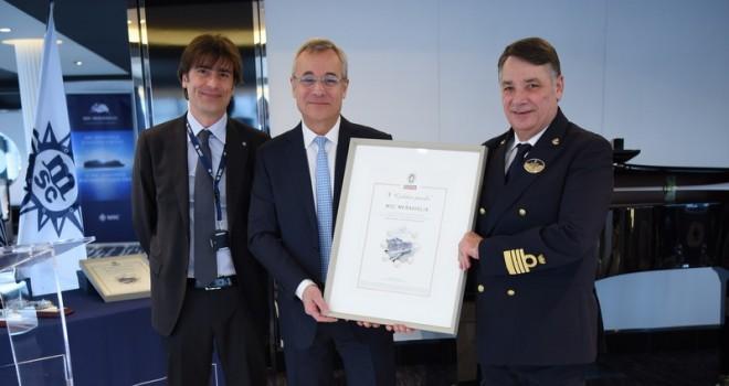 """MSC Cruises'a """"8 Altın İnci"""" ödülü"""