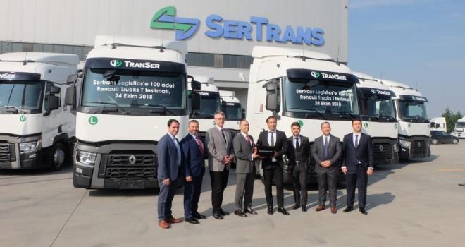 Renault Trucks'tan Sertrans Logistics'e 100 adet çekici