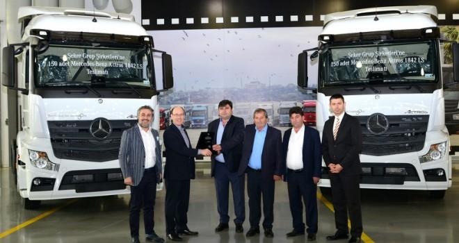 7 farklı firmaya 414 adet kamyon ve çekici teslim etti