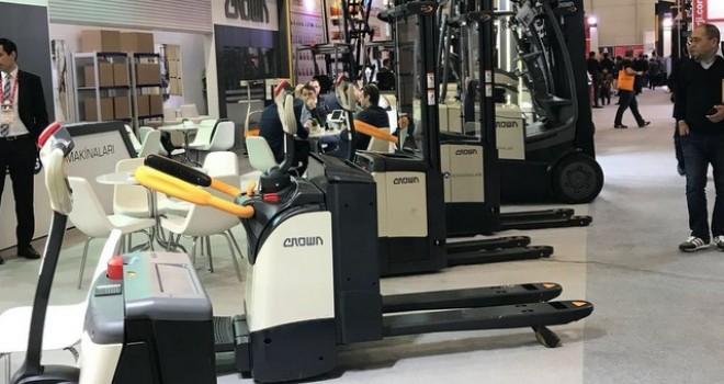 Crown forklift ve depo ekipmanları CeMAT Avrasya'da yerini aldı
