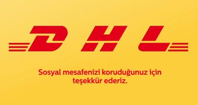 DHL sosyal mesafeye dikkat çekmek için logosunu ayırdı