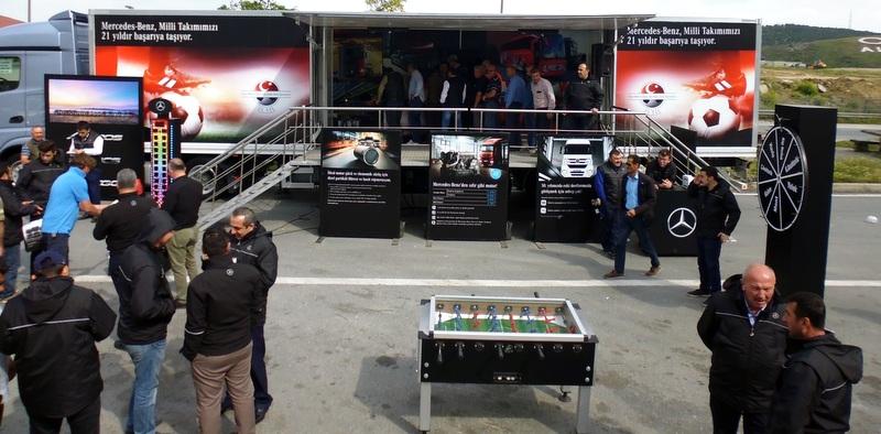Actros, Arocs ve Atego şoförleri Çatalca TIR Parkı'nda buluştu